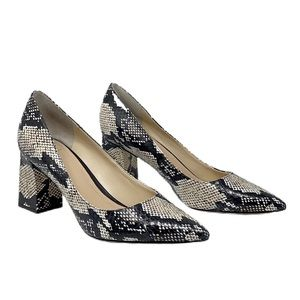 Marc Fisher Leather Snakeskin Pointed-Toe Pumps